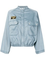 Zadig And Voltaire Elasticated Hem Jacket Blue