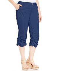 Inc International Concepts Plus Size Ruched Cargo Pants Deep Twilight
