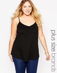 New Look Inspire Cami With Back Detail Black