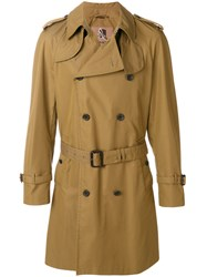 Sealup Classic Belted Trench Coat Cotton Polyamide Polyurethane Viscose Brown