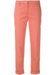 Aspesi Slim Cropped Trousers Pink And Purple