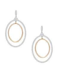 Swarovski Gilberte Hoop Pierced Earrings Silver