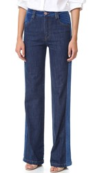 See By Chloe Tuxedo Wide Leg Jeans Washed Indigo