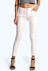 Boohoo Low Rise Ankle Grazer White
