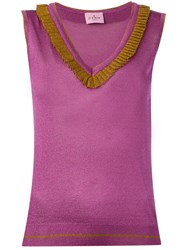 D'enia Knitted Tank Top Pink Purple