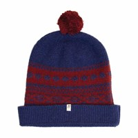 40 Colori Red Blue Norwegian Wool And Cashmere Beanie