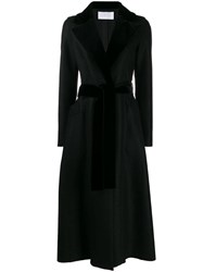 Harris Wharf London Long Belted Coat Black