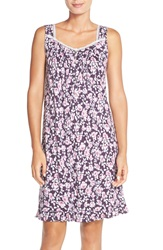 Eileen West 'Autumn Rose' Floral Print Short Nightgown Mulberry Ground Multi Floral