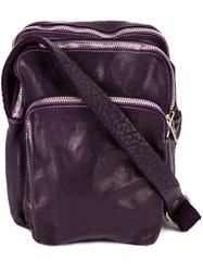 Guidi Multi Functional Shoulder Bag Pink And Purple
