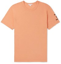 James Perse Printed Cotton Jersey T Shirt Orange