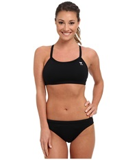 Tyr Durafast Elite Solids Diamondfit Workout Bikini Black Women's Swimwear Sets