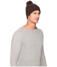 Ugg Ribbed Cuff Hat Stout Heather Beanies Brown