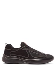 Prada New America's Cup Low Top Trainers Black
