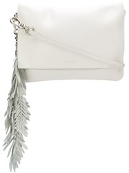 P.A.R.O.S.H. Coral Clutch Bag White