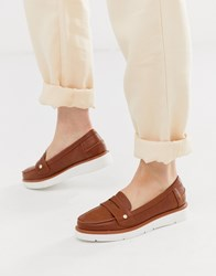 Miss Kg Flatform Loafer Tan