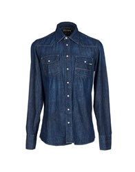 Care Label Denim Denim Shirts Men Blue