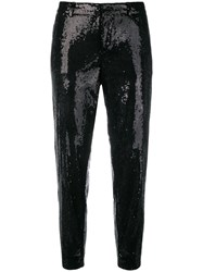 Dsquared2 Emmalynn Hockney Sequinned Trousers Black