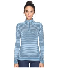 Smartwool Nts Mid 250 Pattern Zip Top Glacial Blue Heather Women's Long Sleeve Pullover