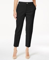 Charter Club Petite Slim Fit Ankle Pants Only At Macy's Deep Black