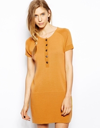 Le Mont St Michel Wool Mix Dress With Button Front