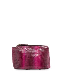 Beirn Large Watersnake Cosmetic Pouch Pansy Bright Pink