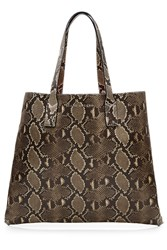 Marc Jacobs Snake Print Wingman Leather Tote Animal Prints