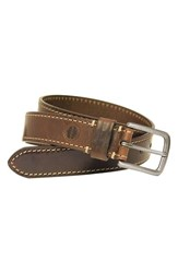 Boconi Men's Leather Belt Cognac