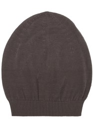 Rick Owens Beanie Hat Men Cotton One Size Grey