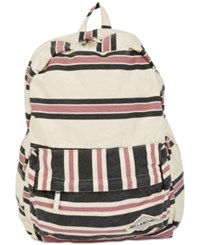Billabong Hand Over Love Striped Backpack Cream