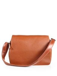 Longchamp Leather Flap Messenger Copper Rust