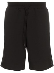 Lot 78 Lot78 Stripe Detail Track Shorts Black