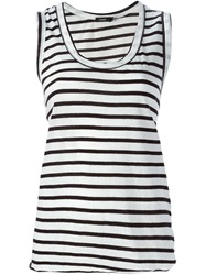 Bassike Striped Tank Top Black