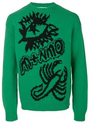 Stella Mccartney Scorpion Sweatshirt Men Virgin Wool M Green