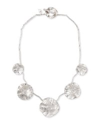 Coomi Serenity Silver Diamond And Floral Bib Necklace