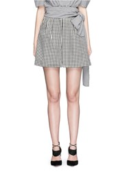 Isa Arfen Wrap Belt Gingham Print Shorts Multi Colour