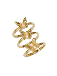 Kate Spade Stacked Butterfly Goldtone Rings