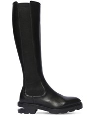 Alexander Wang 45Mm Andy Leather Tall Boots Black