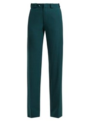 Vetements Cut Out Straight Leg Trousers Green