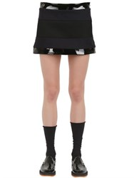 Wanda Nylon Lisa Wool Vinyl And Mesh Mini Skirt