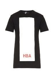 Hood By Air Block Print Cotton Jersey T Shirt