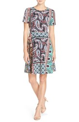 Women's Eci Print Stretch Fit And Flare Dress