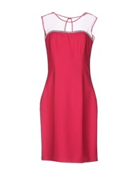Musani Couture Short Dresses Fuchsia