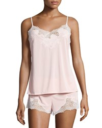 Natori Enchant Lace Trimmed Nightie Set Dusty Deco Pink