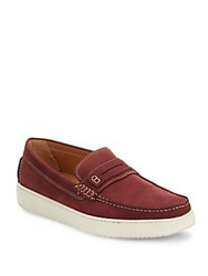 Saks Fifth Avenue Leather Penny Loafers Bordeaux