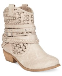 Naughty Monkey Not Rated Vanoora Perforated Ankle Booties Women's Shoes Beige