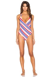 Motel Cane One Piece Swimsuit Blue