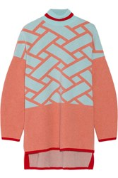 Issa Josephine Intarsia Wool And Cashmere Blend Sweater Blue