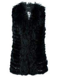 Twin Set Fur Vest Black