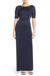 Adrianna Papell Women's Embellished Sleeve Gown