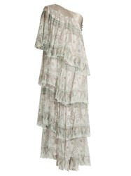 Zandra Rhodes Archive The 1984 Frilly Circle Dress White Multi
